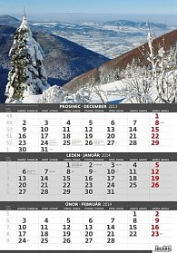 Kalendář 2014 - Hory - 3měsíční - nástěnný