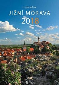 Kalendář nástěnný 2018 - Jižní Morava/střední formát