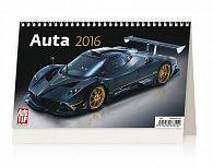Kalendář stolní 2016 - Auta 226x139