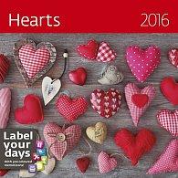 Kalendář nástěnný 2016 - Hearts