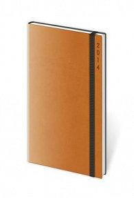 Diář 2014 - kapesní týdenní Flexies - oranžová