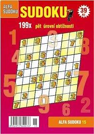 Sudoku 15 - 199x pět úrovní obtížnosti