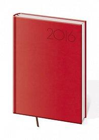Diář 2016 - Print B6 denní - červená