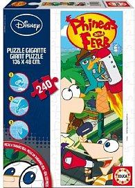 Puzzle Phieas and Ferb 240 dílků