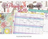 Kalendář nástěnný 2016 - Plánovací pro velkou rodinu,  48 x 33 cm