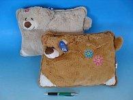 Plyšový polštářek Medvěd 35x25 cm 2 barvy
