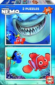 Puzzle Hledá se Nemo 2v1 20 dílků