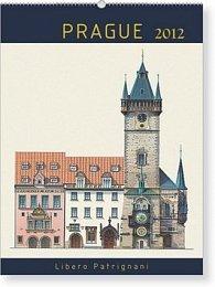 Kalendář nástěnný 2012 - Praha Libero Patrignani 18měsíční, 21 x 30 cm