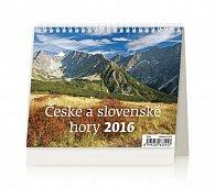 Kalendář stolní 2016 - MiniMax - České a slovenské hory