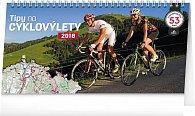 Kalendář stolní 2018 - Tipy na cyklovýlety, 30 x 16 cm