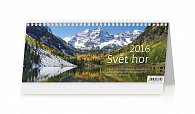 Kalendář stolní 2016 - Svět hor