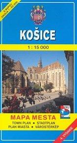 Košice 1:15 000 Mapa mesta Town plan Stadtplan Plan miasta Várostérkép