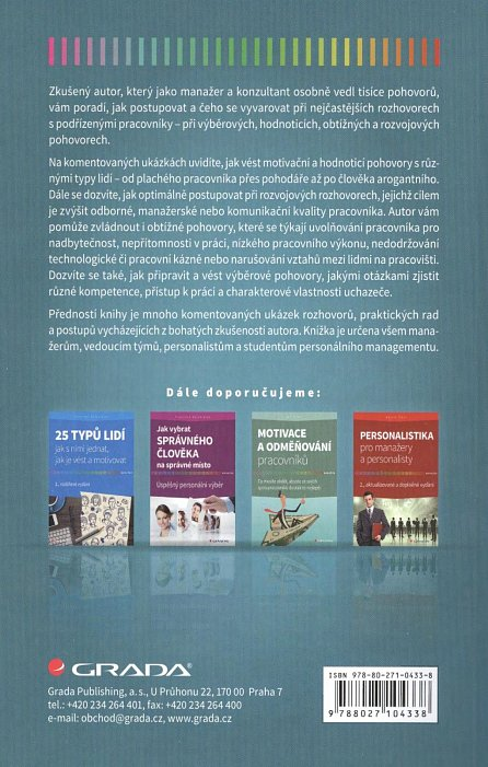 Náhled Jak vést rozhovory s podřízenými pracovníky - Výběrové, hodnoticí, obtížné a rozvojové pohovory