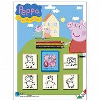 Razítka Pig Peppa, blistr 5 ks