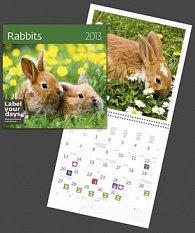 Rabbits - nástěnný kalendář 2013