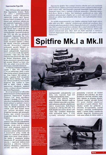 Náhled Spitfire Mk.I a Mk.II - 1.díl