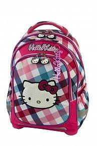 Batoh Hello Kitty růžovo/světle modrý s kostkami super lehký
