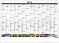 Plánovací roční mapa obrázková 2016 - nástěnný kalendář