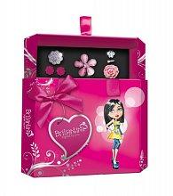 Šperkovnice Briliantina - Pink + 4 prstýnky, 1 pár náušnic