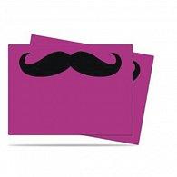 Art: Mustachios Standard DP Sleeves - Růžová