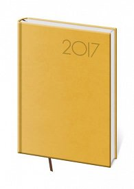 Diář 2017 - Print/denní B6 žlutá
