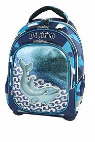 Batoh Delfín modro/modrý super lehký