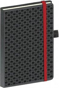 Diář -Teribear notes s gumičkou, Týdenní A5, černá