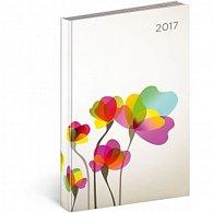 Diář 2017 - Cambio - denní B6/Květiny
