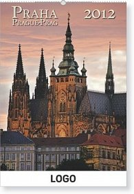 Kalenář nástěnný 2012 - Praha, 33 x 46 cm
