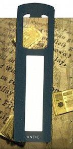 Antická záložka Text tmavě zelená - AZ 013