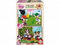 Puzzle dřevěné Minnie 2v1 16 dílků