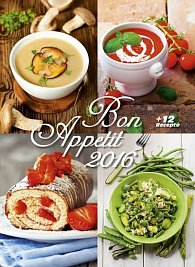 Kalendář nástěnný 2016 - Bon Apetit + 12 receptů