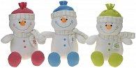 Usměvavý sněhulák s čepicí a šálou