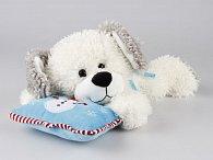 Pes ležící s polštářkem 30 cm