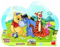 Medvídek Pú - tvarované puzzle 25 dílků