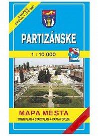 Partizánske Mapa mesta Town plan Stadtplan Plan miasta Várostérkép