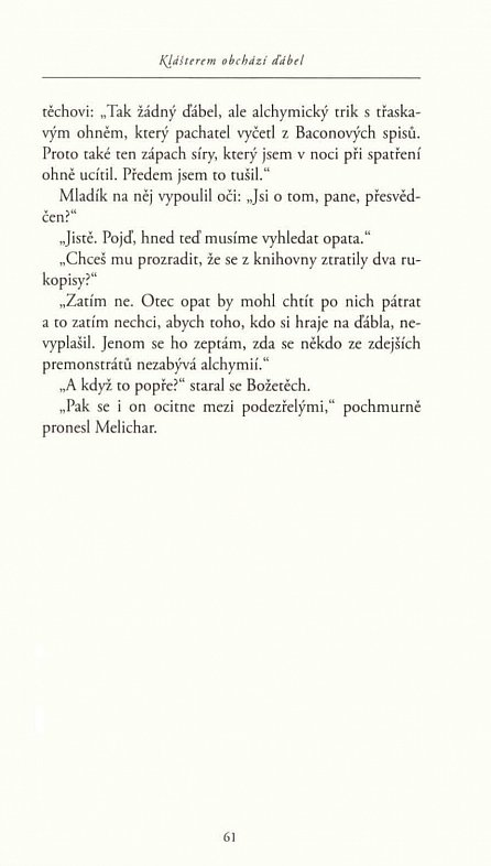 Náhled Klášterem obchází ďábel - Případy královského soudce Melichara