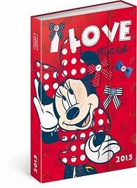 Diář 2015 - W. Disney Minnie (CZ, SK, HU, GB)