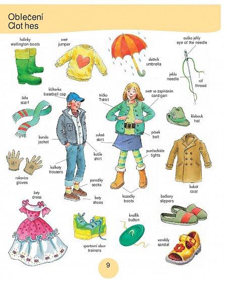 Náhled 1000 prvních anglických slov - Obrázkový slovník pro děti od 5 let