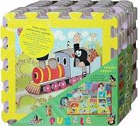 Pěnové puzzle Krtek 30x30 cm, 8ks