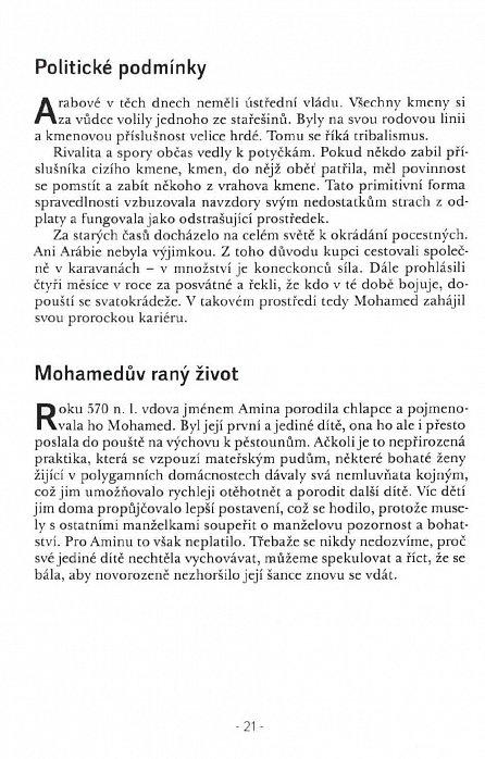 Náhled Stručný životopis zakladatele islámu