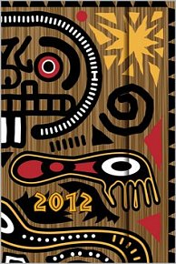 Diář 2012 magnetický - Tribal Art