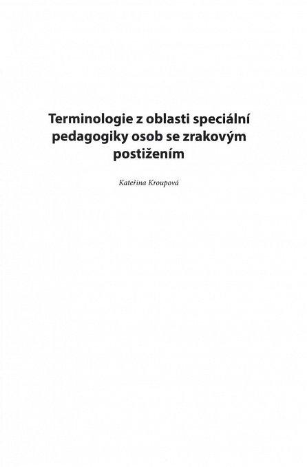 Náhled Slovník speciálněpedagogické terminologie - Vybrané pojmy