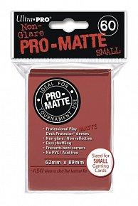 UltraPRO: 60 DP PRO Matte obaly malé  - červená