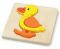 Puzzle dřevěné - kačenka 4 dílky