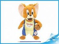 T&J  Jerry plyšový 25cm stojící s basketbalovým mí
