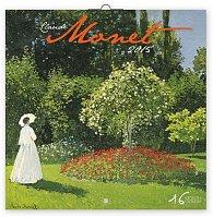 Kalendář 2015 - Claude Monet - nástěnný (GB, DE, FR, IT, ES, NL)