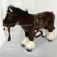 Plyšový Kůň černý 38 cm