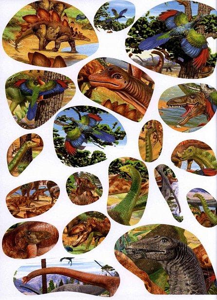 Náhled 1000 dinosaurů se samolepkami