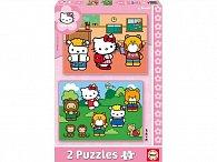 Puzzle Hello Kitty, dva motivy,  48 dílků